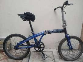 Sepeda Lipat Viva Cycle Uk. 20 Single Speed Biru