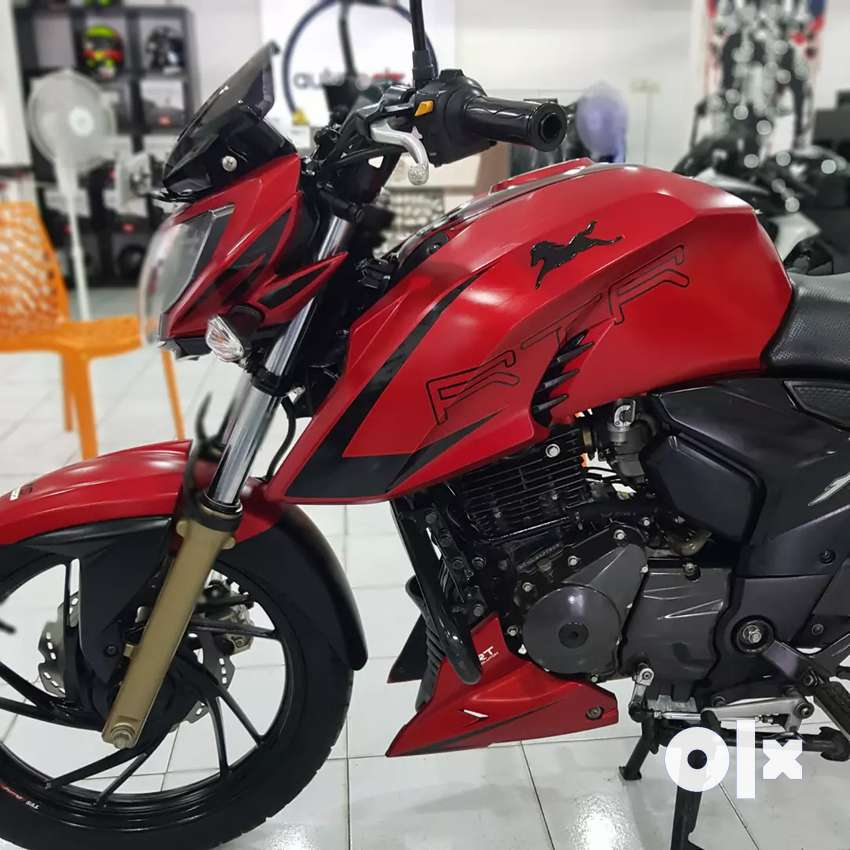 TVS Apache RTR 200 4V, 2018, driven only 14053kms. 0