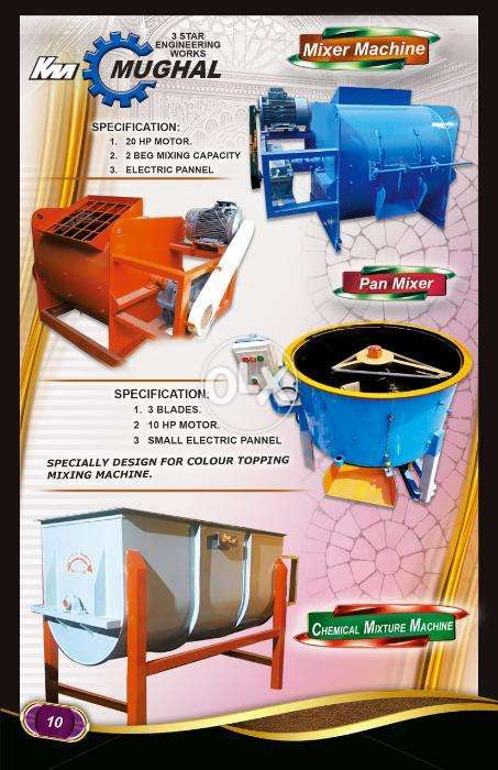 concrete mixer machinery for construction works and batching plant