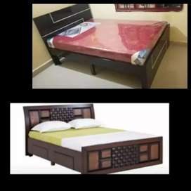 New 5*6 wooden queen double cot mattress 9500 free delivery