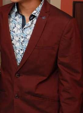 Allen Solly Maroon Blazer