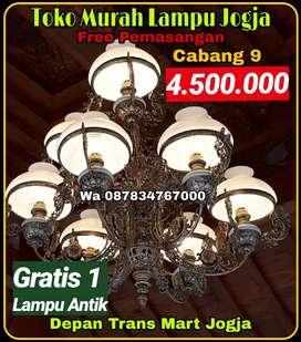 Produksi Dan Grosir Lampu Gantung Antik Klasik Cabang 9 hias Joglo