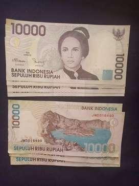 Uang kertas kuno asli  nominal 10000  gambar Tjut Nyak Dhien th  1998