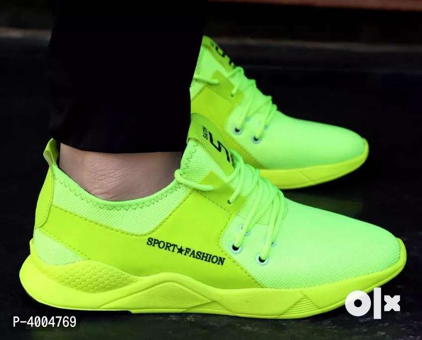 Elegant & Stylish White Mesh Sports Sneaker Shoes 0