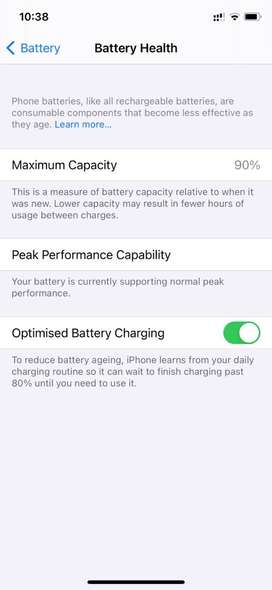 Iphone XS 256GB WHITE 90% battery health