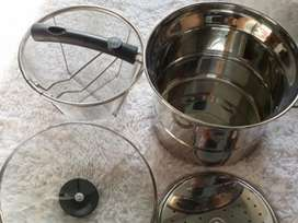 Deep Fryer 22 cm Multifungsi pot 3 in 1 - Stainless