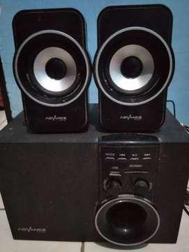 Jual speaker aktif Advance + Bluetooth reseiver murah .