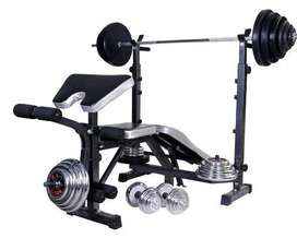 Alat fitnes bench press BB 40 Kg baru