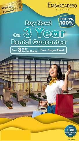 apartemen cash back 3 tahun