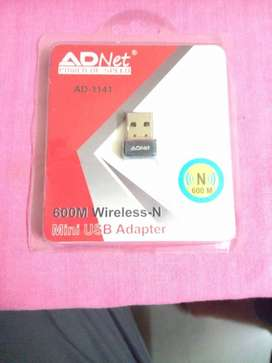 Wi Fi dongal. New and unopened ADNet Mini USB Adapter Pack