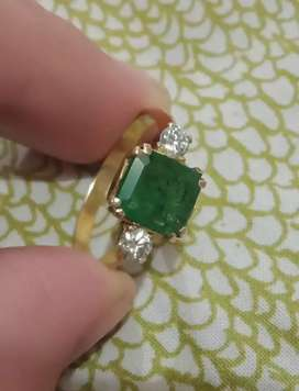 Emerald with Diamond Beautiful ladies Ring