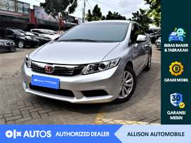 [OLX Autos] Honda Civic 2013 1.8 CVT A/T Silver #Allison