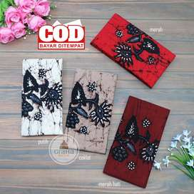 Kain Batik Tulis Asli Katun Halus Bahan Batik Bakaran Matahari Klasik