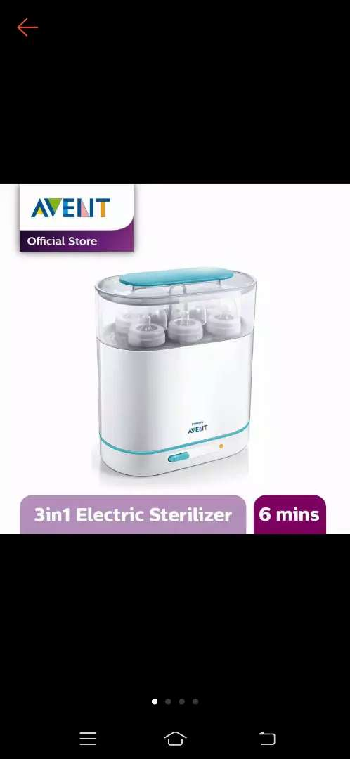 Sterillizer Philips Avent 3 In 1 plus Breastpump Real Bubee Electric 0