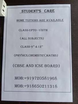 HOME TUITIONS BY EXPERT