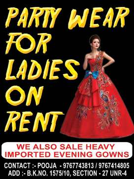 Heavy evening gowns on RENT