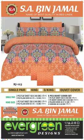 Baranded bed sheets fast clours king size