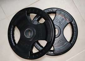 2 × 10Kg Good Quality Pure Rubber Plates