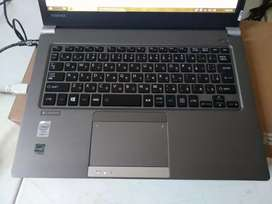 Laptop toshiba slim i5 ram 4GB ssd 128 ex singapore garansi 6 bulan