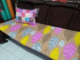 Paket Set Tas Sarung + Matras Kasur Dakron Busa Dacron Lipat + Bantal