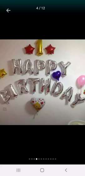 Happy birthday foil balloon alphabets