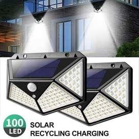 Lampu Solar Sensor 100 LED - Lampu Sensor Tenaga Matahari Super Terang
