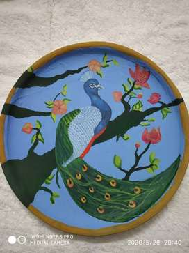 Peacock wall plate decoration