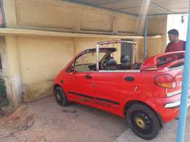 Deawoo matiz half car petrol red color in good condition
