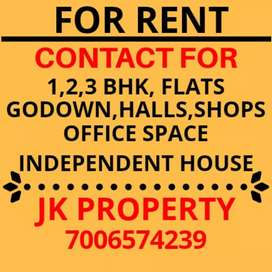 For Rent 3Rooms lobby in Green Belt Park, Gandhi Nagar