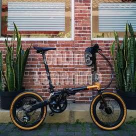 Fnhon Gust Disc Brake Black Gold - THOR