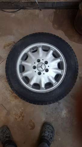 """Mercedes Benz 15"""" Silver Alloy Rims with Tyres"""