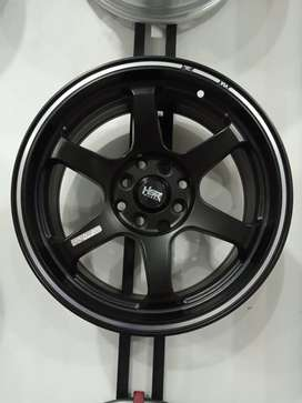 Velg mobil racing murah Xenia R16 HSR Tokyo Ring 16 Lebar 7 Black Brio