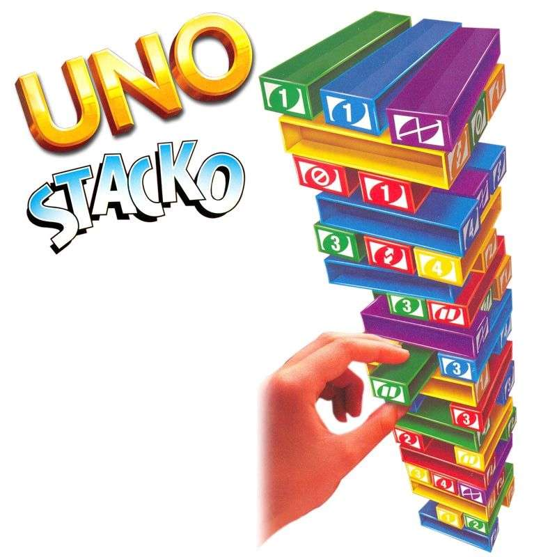 Uno Stacko The Stacking Block Game 0