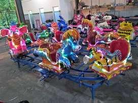 odong kereta panggung animal fiber mini coaster pancingan kincir angin