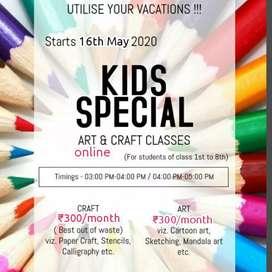 Online art n craft classes