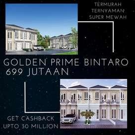 Bintaro, Hunian Minimalis 2 LT Golden Prime 699 Jutaan Dekat Stasiun