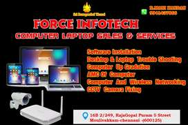 Computers & Laptops Services via vedio confrence also.