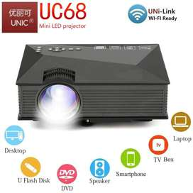"""UNIC UC68 Full HD LED WiFi Projector 1800 Lumens 130"""" Screen Supported"""