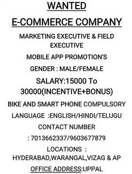 Marketing Executive Total Filed work interested call me