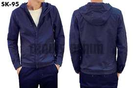 Jaket Denim Semi Parka Hooded Simply Style - SK95