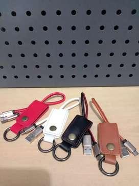 kabel chrome gantungan kunci kulit-pack plastik-mikro micro-bagus