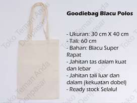 Tote Bag Blacu Polos (Tas Belanja / Goodie Bag / Totebag)