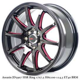 ASSASIN JD5907 HSR R17X75 H8X100-114,3 ET40 BK/RED
