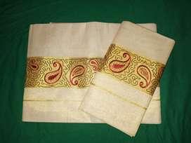 Womens set sarees, set mundus