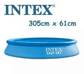 INTEX 28116 (size:10ft/24inc) easyset swimming pool with out filter.