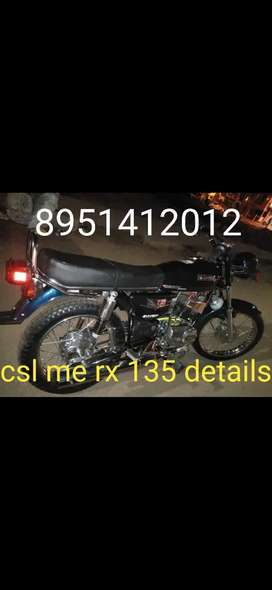 Yamaha RX135 newly modified bike if intrested call me.