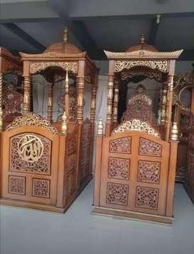 mimbar masjid kubah model simple mewah
