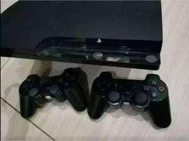PS 3 Slim 500Gb Hitam pemakaian 3 bulan No Minus