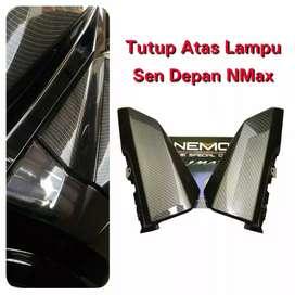 Tutup atas lampu sein nmax carbon barang baru nemo