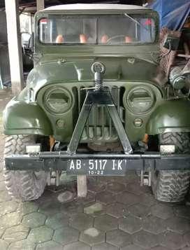 Jeep Willys M38 A1, Mesin Ori Top Klep, Stir Asli kiri, 4x4 Jalan